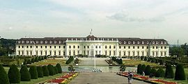 View of the upper grounds of Ludwigsburg Palace
